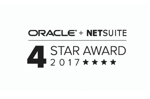 Oracle Netsuite 4-star Award 2017