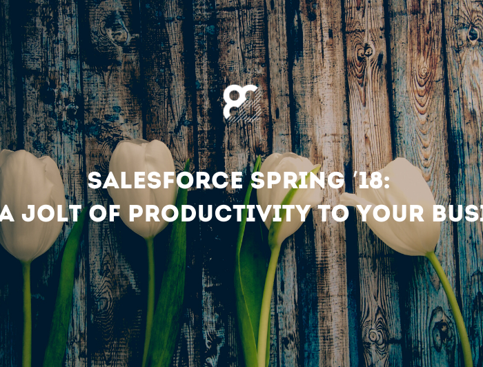 Salesforce Spring '18: Give a Jolt of Productivity to Your Business