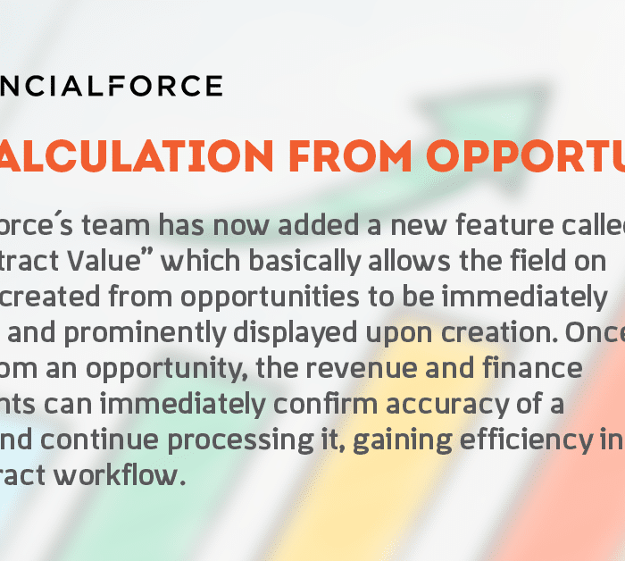 FinancialForce New Feature: TCV Calculation From Opportunity