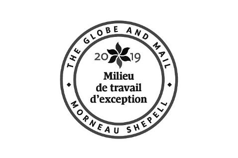 2019 Globe and Mail Milieu de travail d'exception award