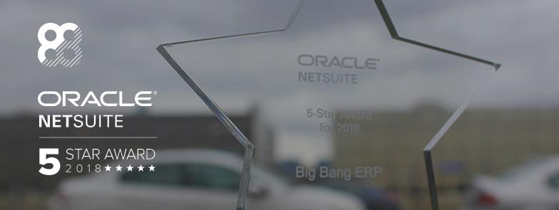 Big Bang ERP reçoit la cote partenaire NetSuite 5 étoiles