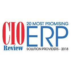 Classement parmi les 20 fournisseurs de solutions Progiciel de Gestion Intégré (ERP) les plus prometteurs en 2018 selon CIO Review