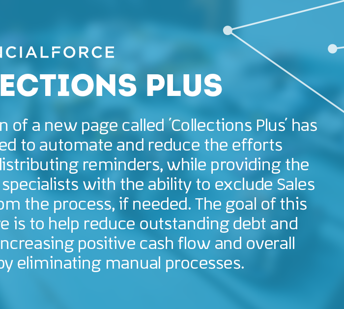 FinancialForce New Feature: Collections Plus