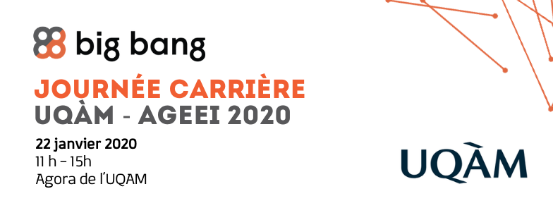 Big Bang at UQAM Career Fair January 2020