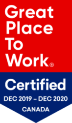 Great Place To Work Certified December 2019-December 2020 Badge