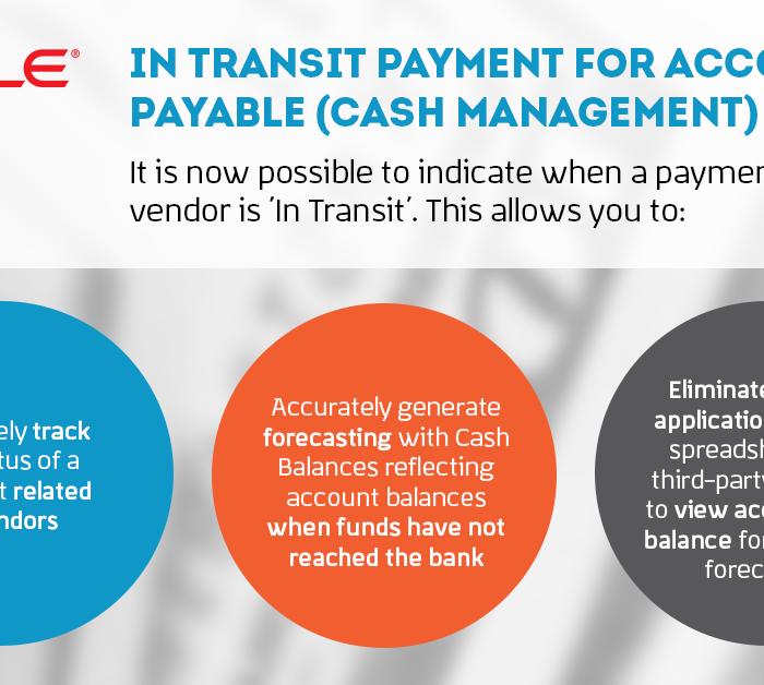 Paiements en transit pour les comptes créditeurs (gestion de la trésorerie)