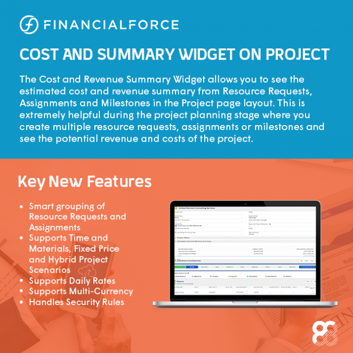 FinancialForce Fall 2018 Release Infographic: Cost and Summary Widget on Project