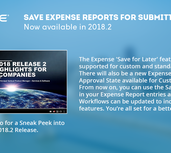 NetSuite: Save Expense Reports for Submitting Later