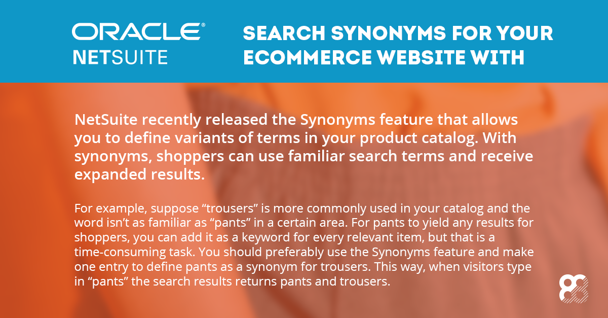 NetSuite: Search Synonyms