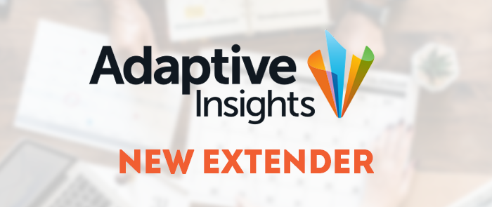 Big Bang ERP announces the addition of a new extender: Adaptive Insights