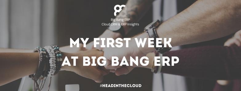 My First Week at Big Bang ERP