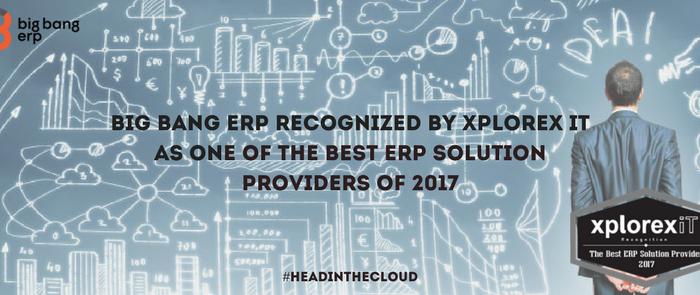 Big Bang ERP est reconnue par Xplorex IT comme étant l'un des meilleurs fournisseurs de solutions PGI de 2017