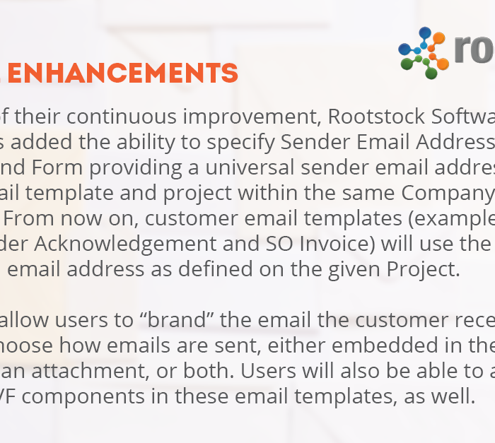 Rootstock Software: Email Enhancements