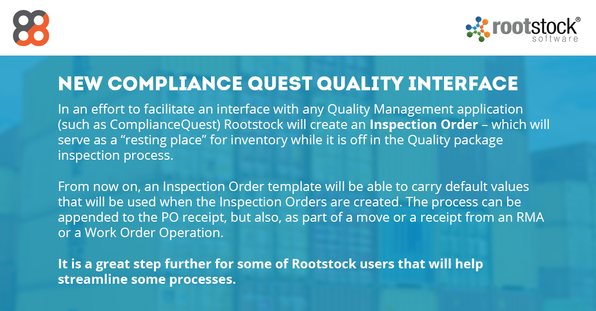 Rootstock Software: New Compliance Quest Quality Interface
