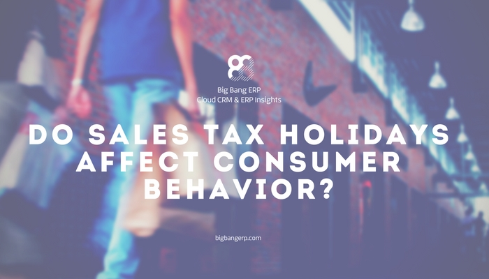 Do Sales Tax Holidays Affect Consumer Behavior?