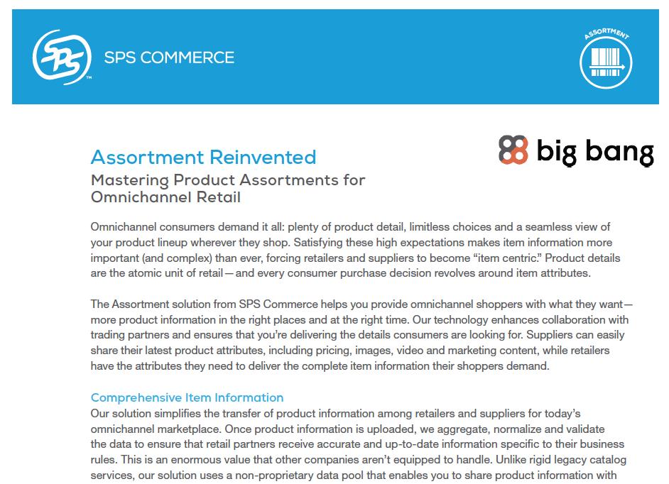 SPS Commerce: Assortment Reinvented Data Sheet
