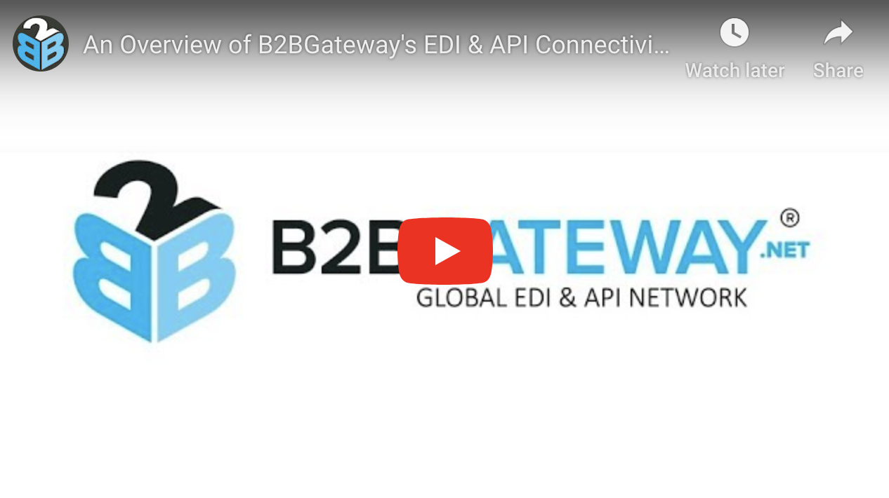 An Overview of B2BGateway's EDI & API Connectivity Solutions