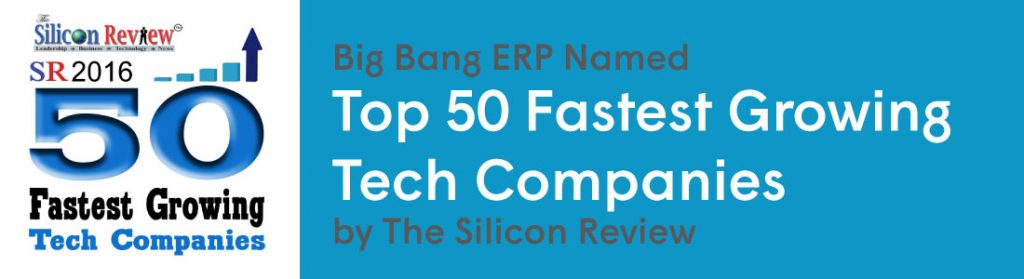 |The Silicon Review Top 50 Logo for the Fastest Growing Tech Companies||