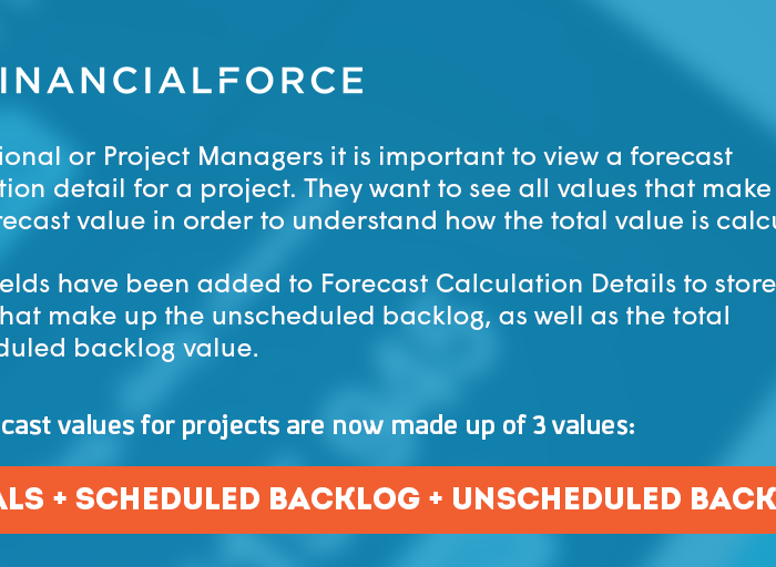 FinancialForce Fall 2018 Release Infographic: Viewing Unscheduled Backlog
