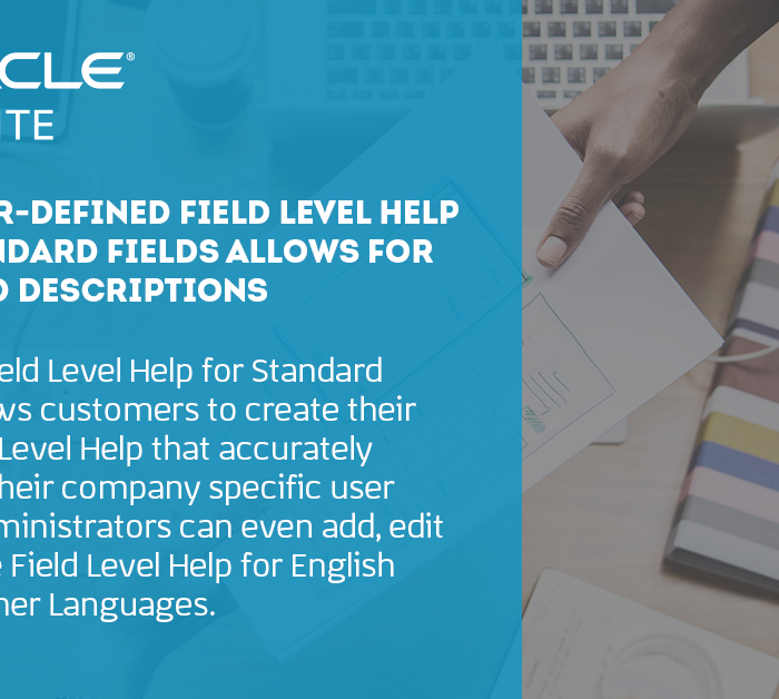 NetSuite: New User-Defined Field Level Help Feature