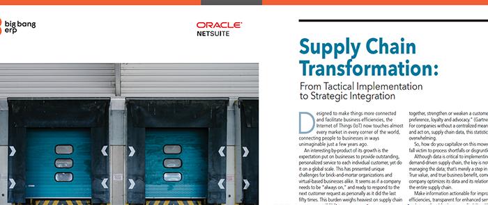 NetSuite: Supply Chain Transformation