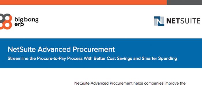 NetSuite Advanced Procurement