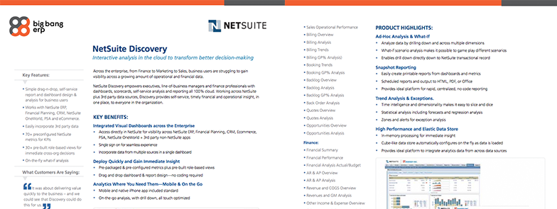NetSuite Discovery
