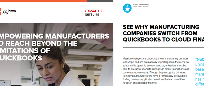 NetSuite: Empowering Manufacturers Beyond QuickBks (Competitive Switch & Manufacturing)