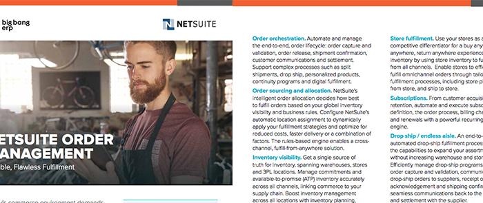 NetSuite Order Management