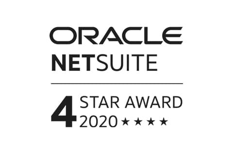 Oracle Netsuite 4-star Award 2020