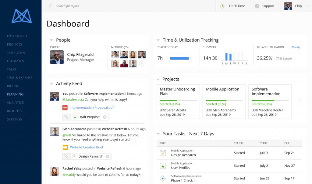Mavenlink dashboard screenshot