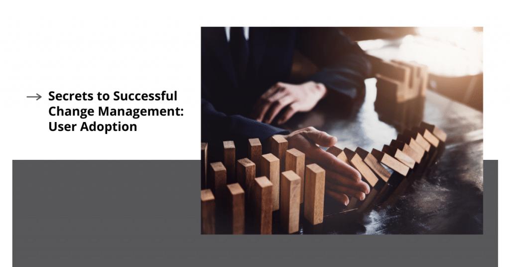 Secrets to Successful Change Management: User Adoption