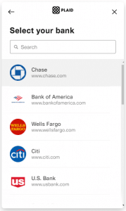 Plaid bank integration with FinancialForce