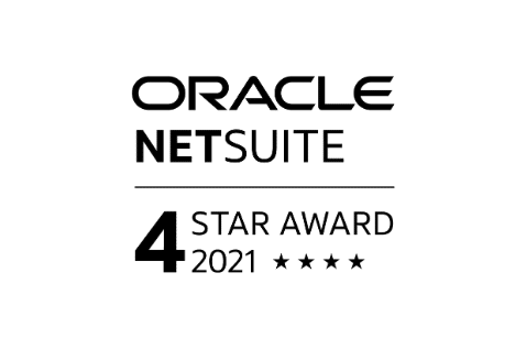 Oracle Netsuite 4-star Award 2021