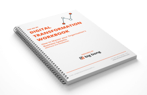 The no BS Digital Transformation Workbook Mockup spiral book